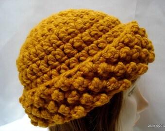 Crochet Women hat, Adult hat, Wool hat, Woman hat, Crochet adult hat, Mustard women hat, gift mom gift, mother's day gift, gift women