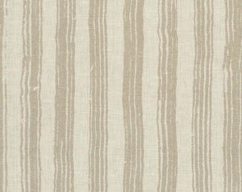 Tyndall Painted Stripe Fabric in Gold by Ralph Lauren