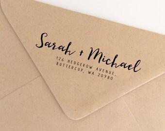 Personalized Couples Return Address Stamp, Gifts for Couples, Stationery Stamp, Address Stamp, Christmas Stamp, Wedding Stamp (SADDR173)