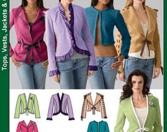 ON SALE Misses' Jacket 5 variations Sewing Pattern Simplicity 4029 Size 6-14 Bust 30.5-38 UNCUT