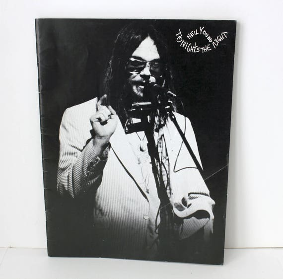 Vintage Neil Young Tonight's The Night Promo Tour Book from 1970s
