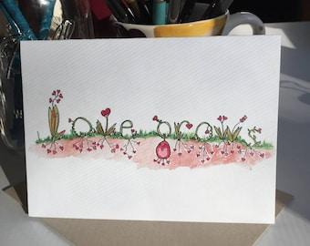 Valentine, love greeting card