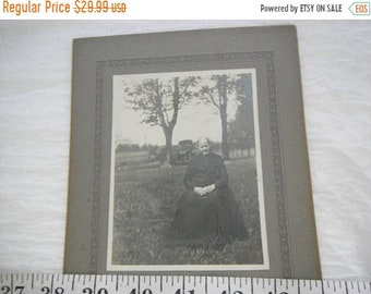 45% OFF SALE Vintage Tin Type Photo Of a Grandmother in Late 1800's,1800's,Old Lady Photo,Lovely Lady Photo  {G}