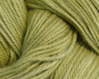 Hand Dyed Alpaca Yarn in Pear - Finger Wt - 250 yds