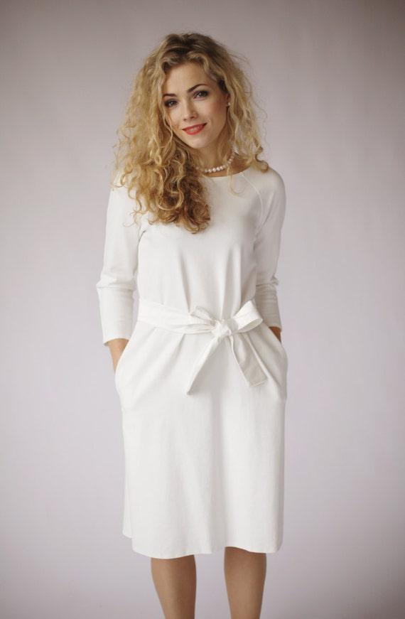 Simple wedding dress modest wedding dress with pockets long
