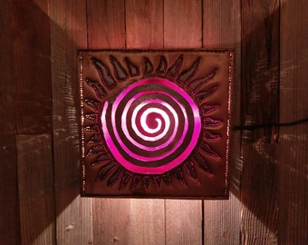 Punched Copper Wall Sconce / Light