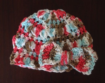 Baby Gril Crochet Beanie with Bow.
