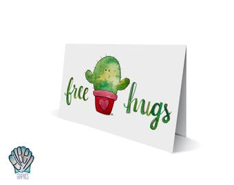 Cactus Valentine Greeting Card // Printed in Newport, RI • Packaged in Compostable Eco Bags • Desert • Plant