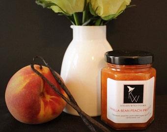 Gourmet Jams and Jellies, Vanilla Bean Peach Preserves, Hand Crafted Jam, Best Made Jam, Fresh Made Jam, Peach Jam, Home Made Jam