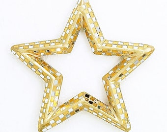 Large Gold & Silver Mosaic Star