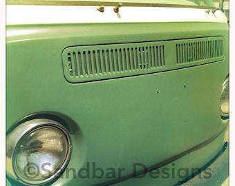 4 x 4 photo card-Pistachio VW bus