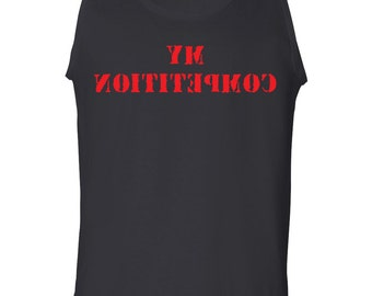 BACKWARD My Competition Men's Tank Top Look in the Mirror 1576