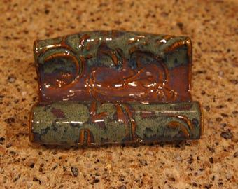 Ceramic business card holder
