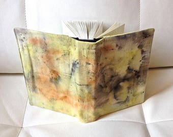 CS21:UN naturally dyed fabric covered artist book