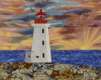 Peggy's Point, NS Lighthouse quilt pattern