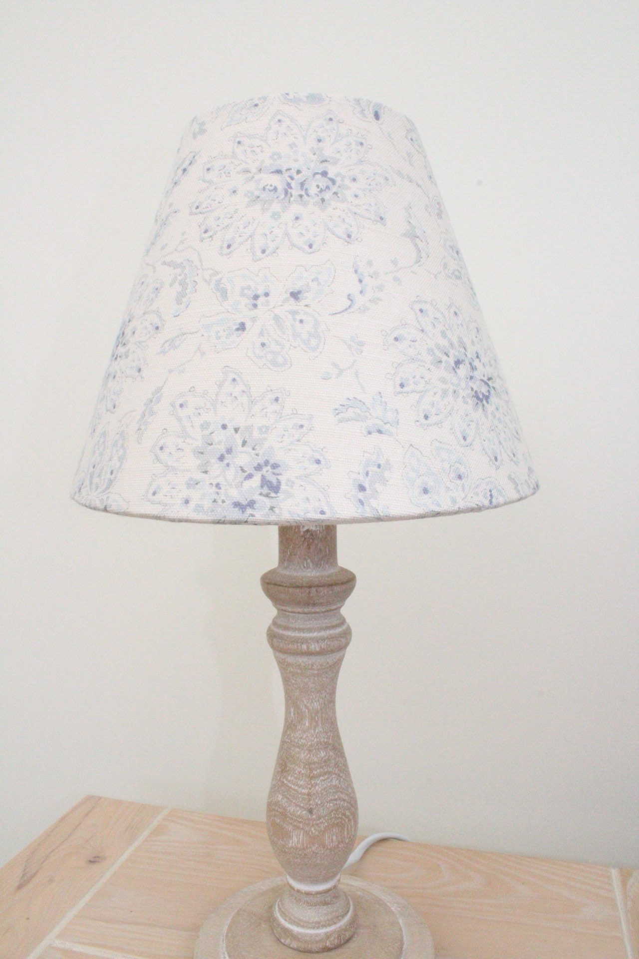 Lampshade/Home Decor/Table Lamp/Floor Lamp/Lighting/Empire Lamp  Shade/Floral/Linen/Shabby Chic/French Country/Cottage/Sarah Hardaker