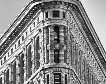 New York Photography Print, New York Skyline, New York Wall Print, Flatiron Building, Black and White Photography, Skyline New York,