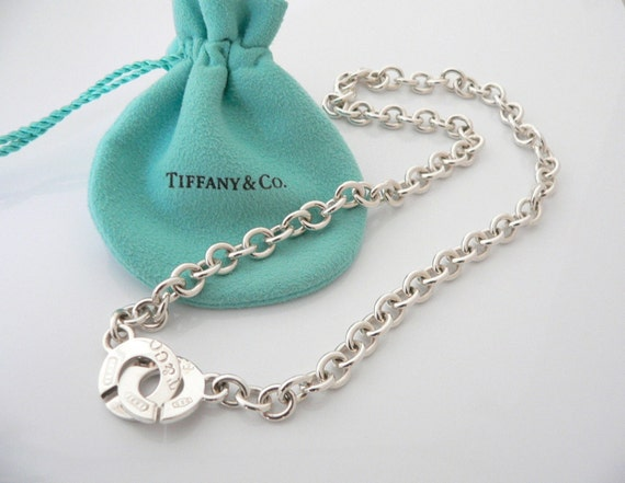 Tiffany co sterling silver 1837 circle clasp necklace audiocablefo