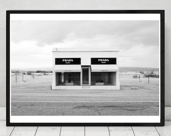 Prada Marfa Store, Home decor, print, wall art, icon, fashion art, photography,