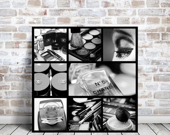 Chanel no 5 Large canvas art, Chanel canvas art, Chanel decor/black and white photography/Bathroom decor, large wall art/Chanel Bathroom Art