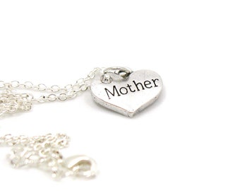 Mother Necklace, Charm Jewelry, Mom Charm, Mother Charm Necklace, Mom Pendant, Everyday Jewelry, Mother's Day Gift, Mother Jewelry, Mom Gift