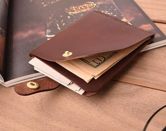 1/2 Slim card wallet,  business card gift for mens, New recruits,