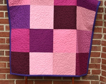 Mulberry Squares Baby Blanket