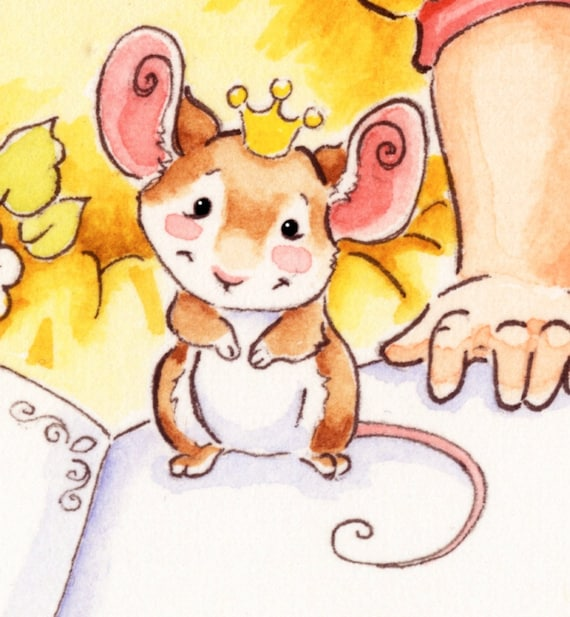 Watercolor Nursery Once Upon a Time Fairy Tale Storybook