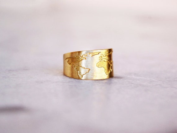 Travel ring globe ring travel gift world map ring like this item gumiabroncs Gallery