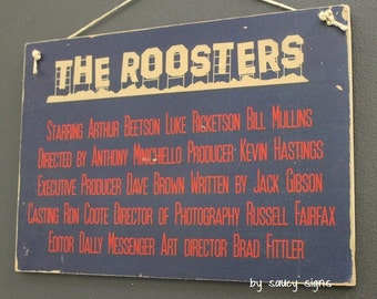 Sydney Roosters Easts Movie Style Poster Rugby League Footy Football Sign Bar Pub Man Cave