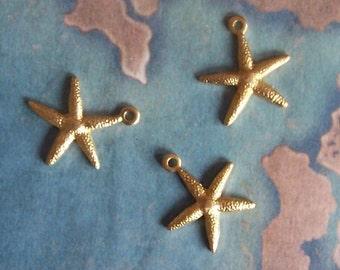 2 PC Raw Brass Star Fish / Sea Star Jewelry Finding - Embellishment - ZNE A0014