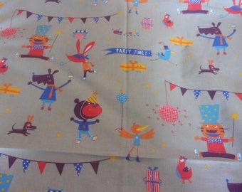 Kids fabric coupon 50 x 70 cm print circus