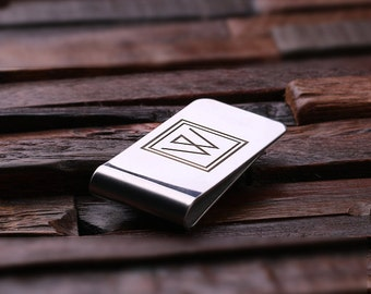 Personalized Monogrammed Engraved Money Clip Wallet Men's Gift, Groomsmen, Father's Day