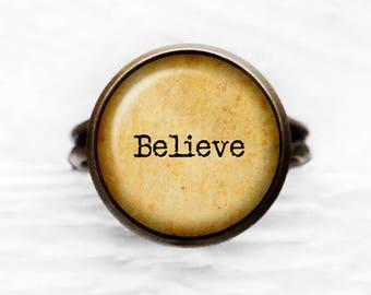 Believe Adjustable Ring