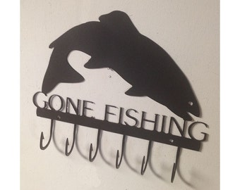 Gone Fishing Trout Fishing Key Rack