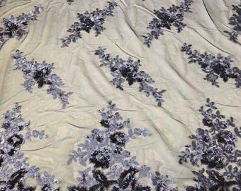 Lace Fabric/Sequins Beaded Lace Fabric