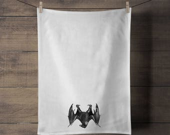 Bat Tea Towel - Halloween - Vampire - Gothic