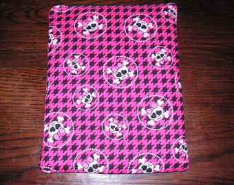 Skulls bows handmade zipper fabric iPad 2 3 4 Air Retina Xoom Galaxy Acer case sleeve cover pouch tablet