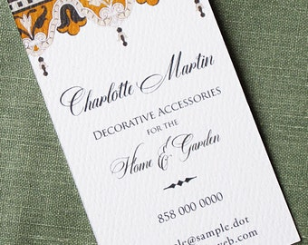 Elegant Business Card with Regency Detail - Set of 50