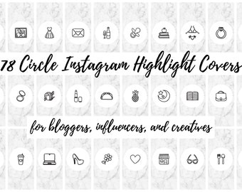 78 White Marble Circle Instagram Story Highlight Cover Icons | Fashion, Beauty, Lifestyle, Decor, Craft, Handmade, Bloggers, Influencers