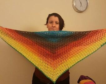 Triangle Shawl Multicolour
