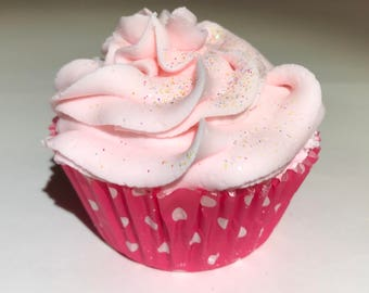 Raspberry Cupcake Bath Bomb