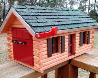 Mailbox Log Cabin.Choose Your Color. Weatherproof And Built To Last.