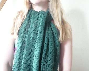 Lace Scarf Women/Ladies Hand Knitted Wool Blend