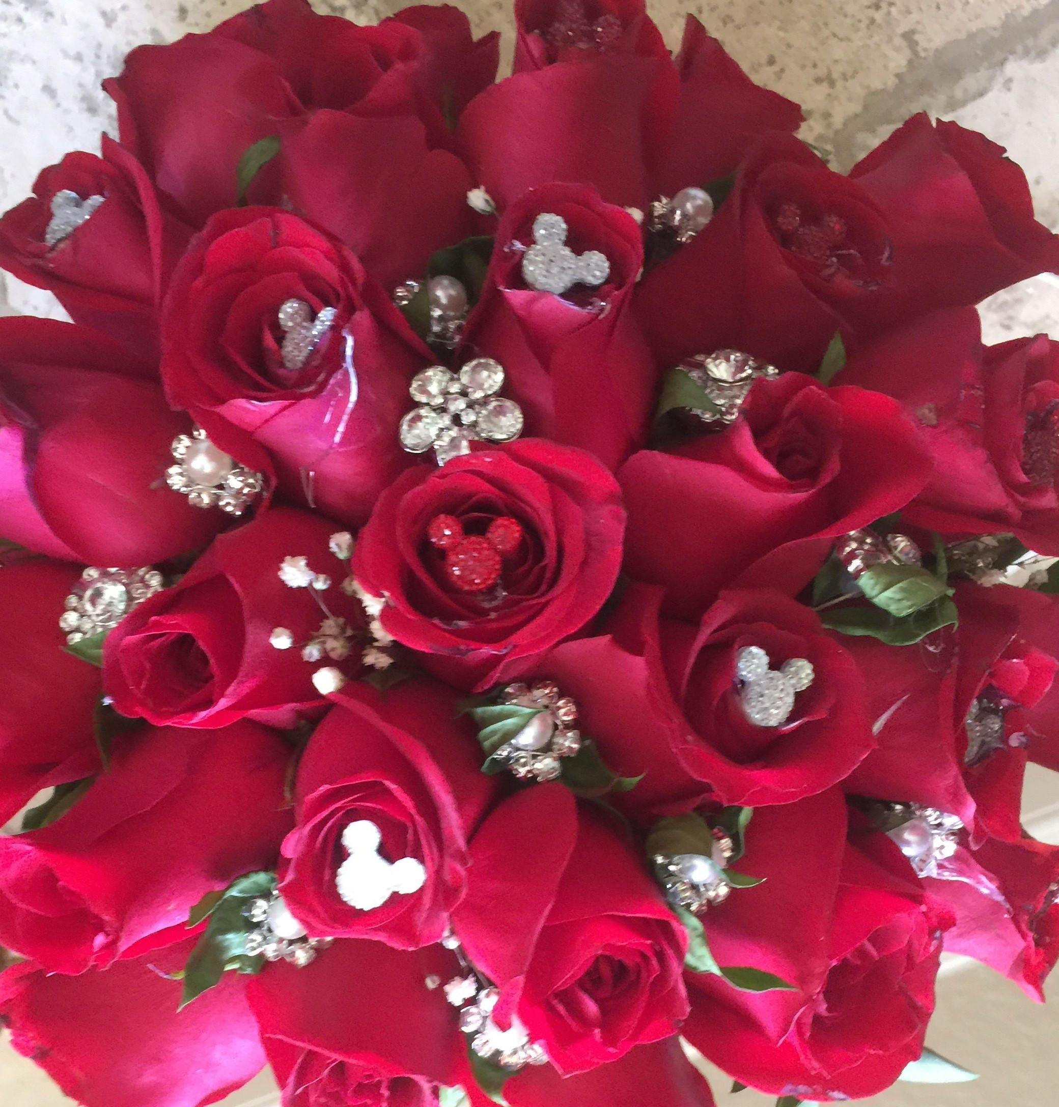 12 disney inspired wedding flower pins hidden mickey mouse bouquets 12 disney inspired wedding flower pins hidden mickey mouse bouquets crystal clear or choose color izmirmasajfo Image collections