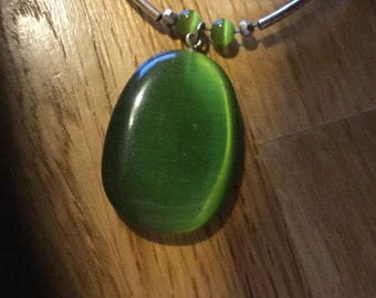 Necklace mint green