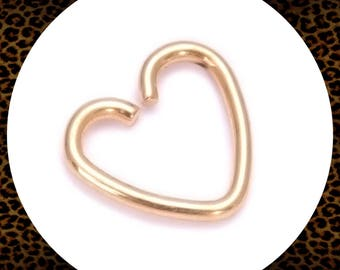 Titanium Surgical Steel Gold Heart Body Piercing Conch Daith Helix Rook Tragus