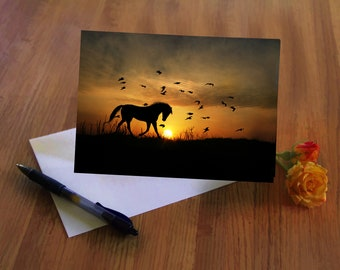 Horse Thank You Card, Pretty Thank You Card, Equine Thank You Card, Cute Thank You Card, Cute Horse Thank You Card