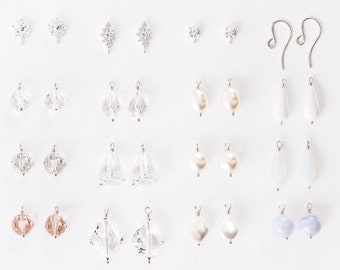 Design Your Own Earrings - Bridesmaid Earrings Set of 8, Set of 7, Set of 6, Set of 5, Set of 4, Set of 3, Set of 2, or Single Earrings