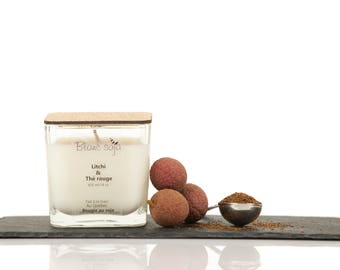 Lychee and rooibos, soy candle